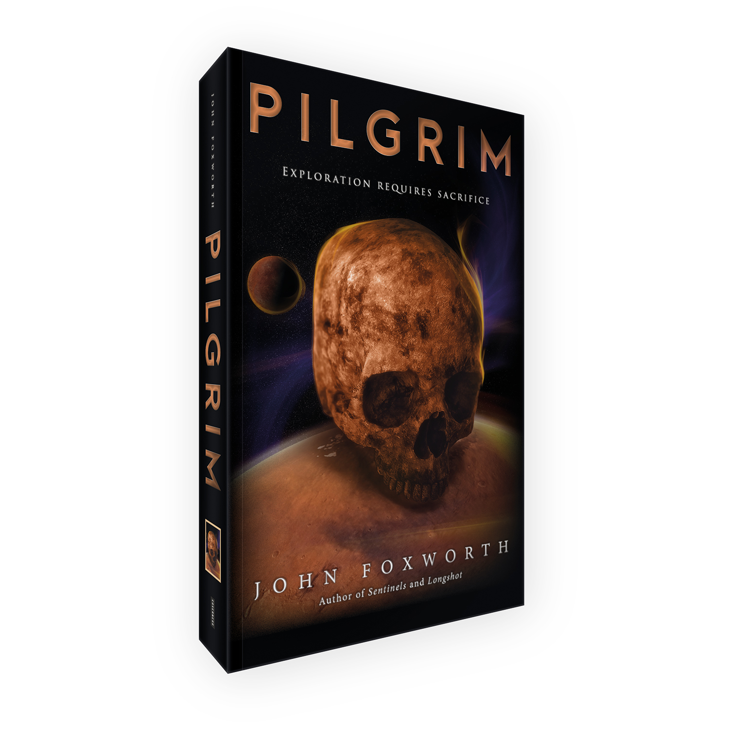 'Pilgrim' is a bespoke cover design for a modern deep-space scifi novel. The book cover was designed by Mark Thomas, of coverness.com. To find out more about my book design services, please visit www.coverness.com.