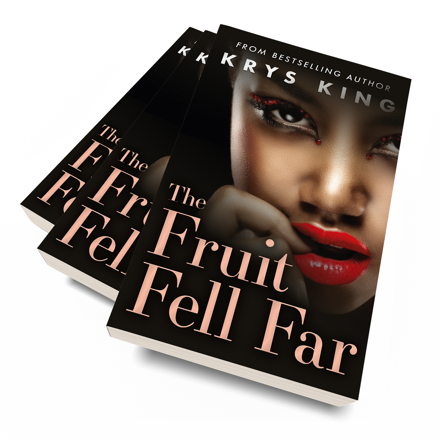 'The Fruit Fell Far' is a steamy modern novel, by author Krys King. The book cover was designed by Mark Thomas, of coverness.com. To find out more about my book design services, please visit www.coverness.com.