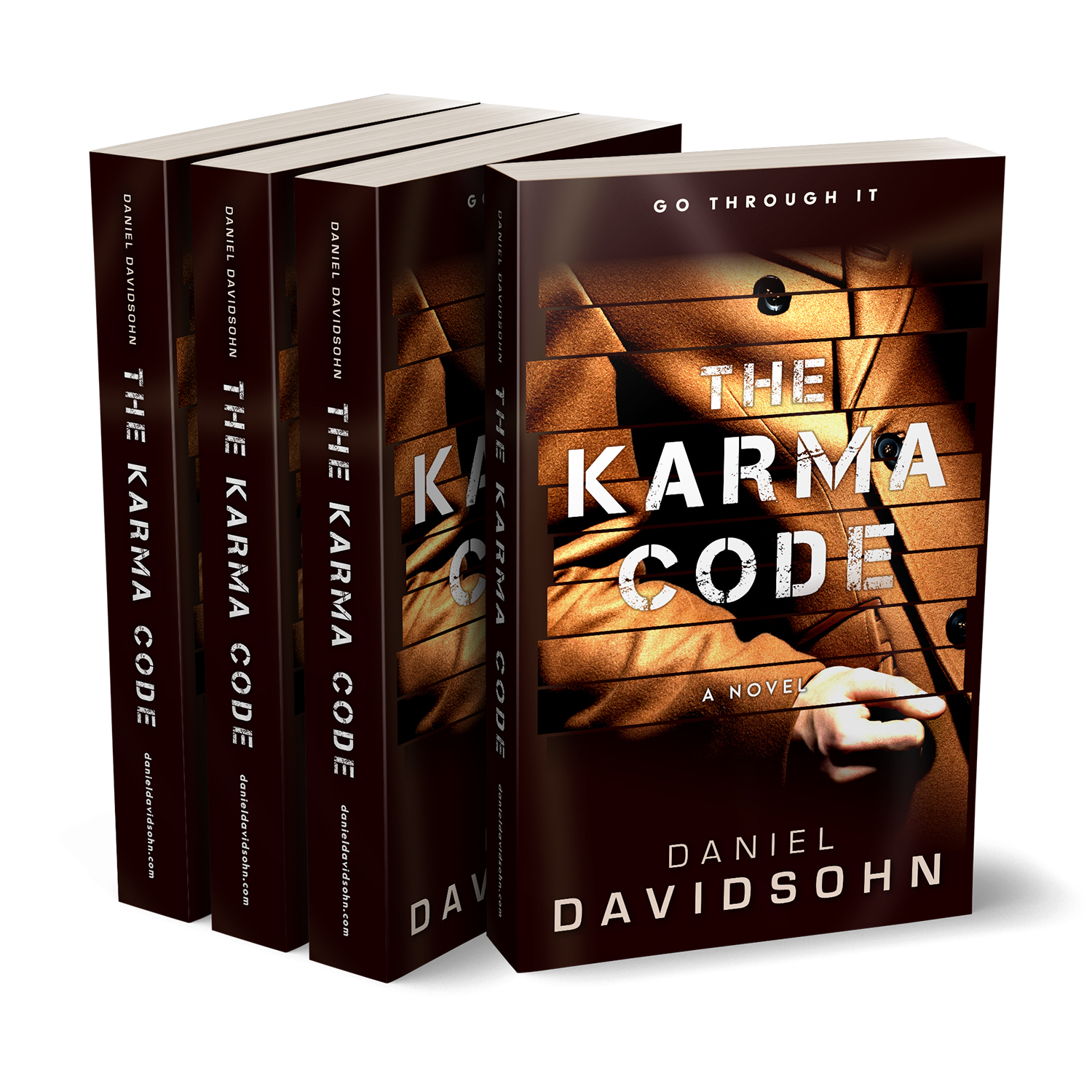 'The Karma Code' is techno thriller, by author Daniel Davidsohn. The book cover & interior were designed by Mark Thomas, of coverness.com. To find out more about my book design services, please visit www.coverness.com.