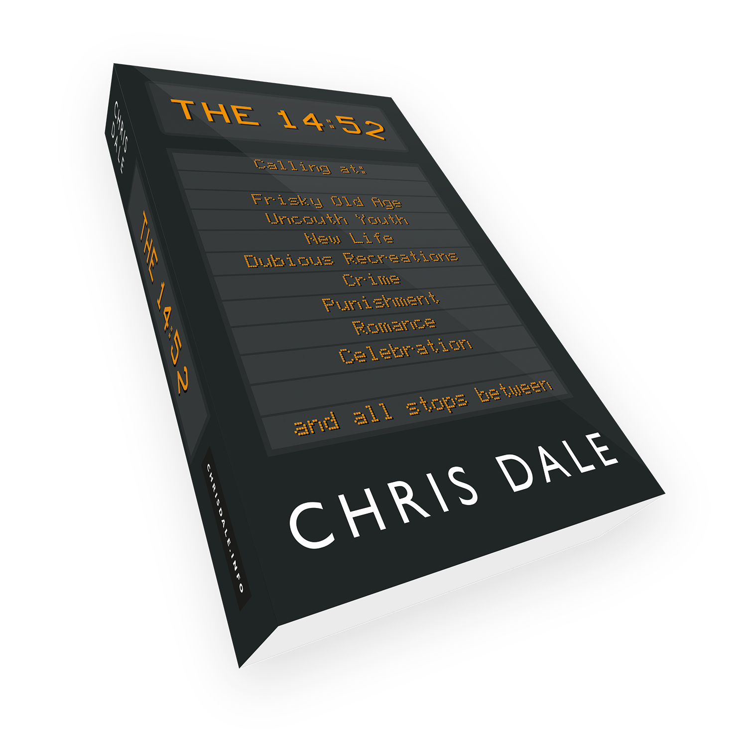 'The 14:52' is a bespoke cover design for dramedy novel, by the author Chris Dale.. The book cover was designed by Mark Thomas, of coverness.com. To find out more about my book design services, please visit www.coverness.com.