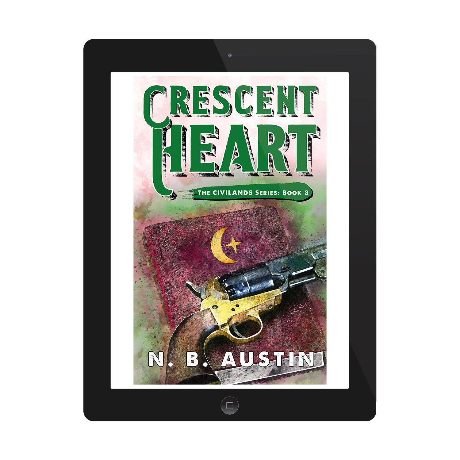 'Crescent Heart' is a sweeping alt-history Western fantasy novel, by N B Austin. The book cover and interior were designed by Mark Thomas, of coverness.com. To find out more about my book design services, please visit www.coverness.com.