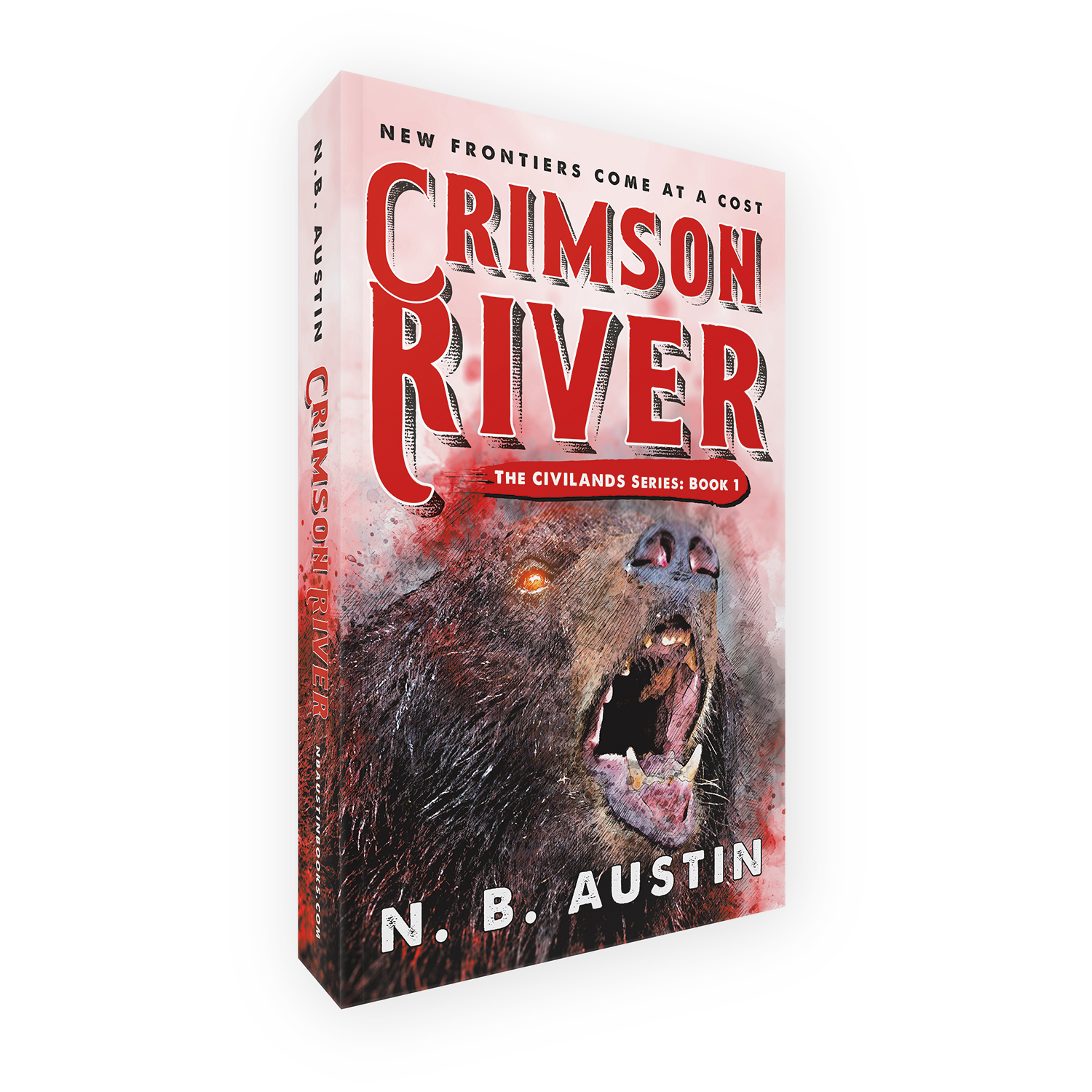 'Crimson River' is book one in an alt-history mystical Western adventure series, by author NB Austin. The book cover & interior were designed by Mark Thomas, of coverness.com. To find out more about my book design services, please visit www.coverness.com.