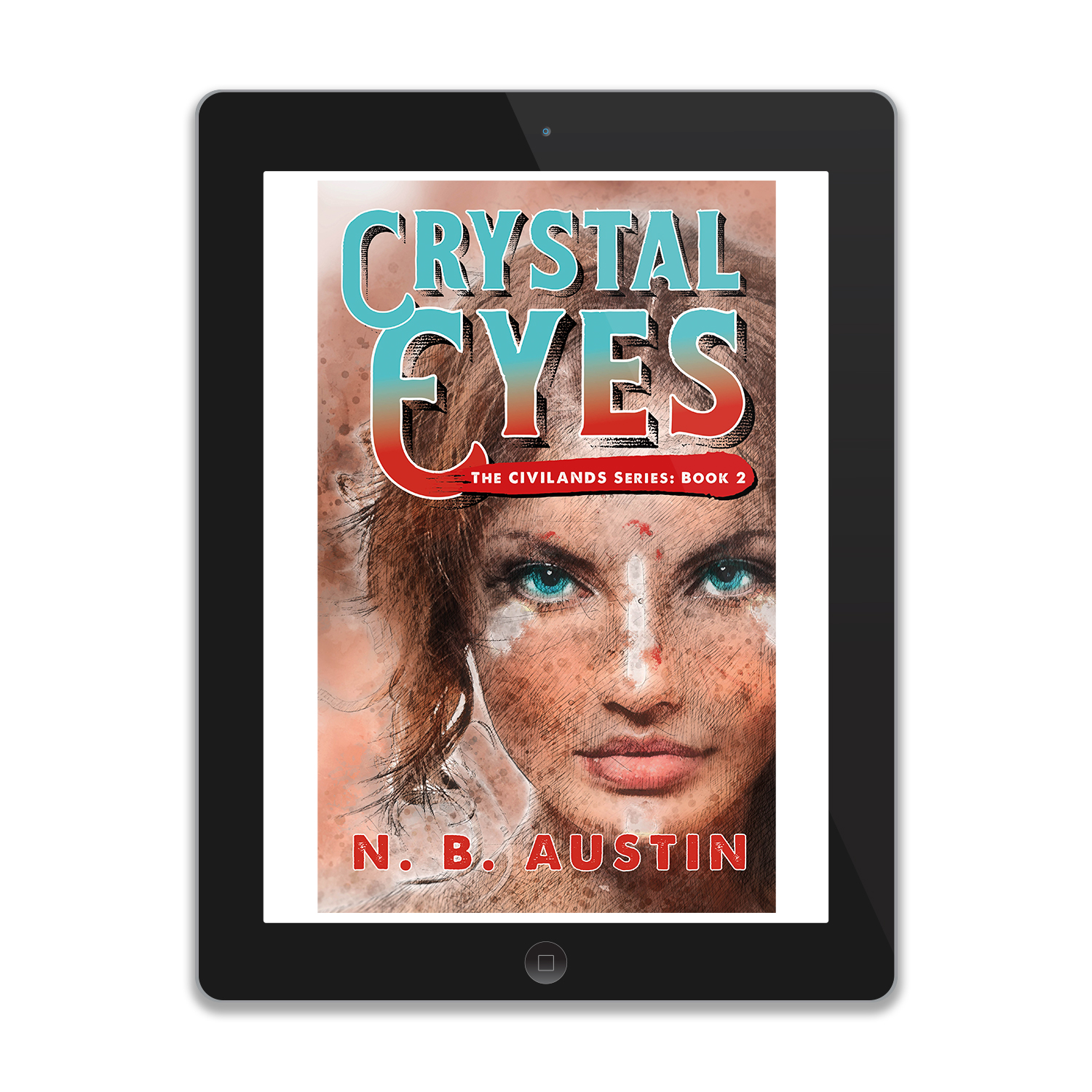 'Crystal Eyes' is book two in an alt-history mystical Western adventure series, by author NB Austin. The book cover & interior were designed by Mark Thomas, of coverness.com. To find out more about my book design services, please visit www.coverness.com.