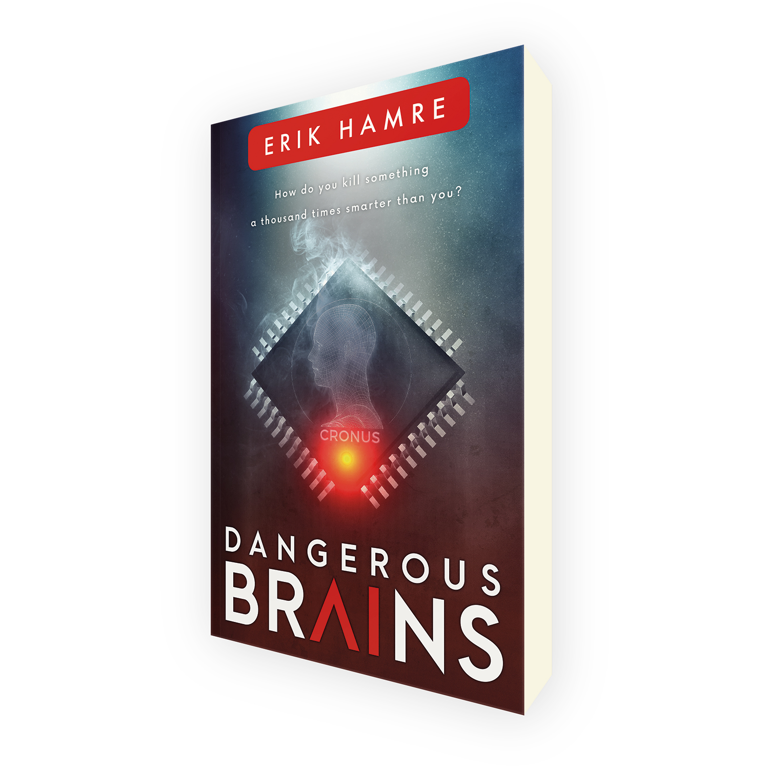 'Dangerous Brains' is a stylish military scifi cyber thriller, by Erik Hamre. The book cover was designed by Mark Thomas, of coverness.com. To find out more about my book design services, please visit www.coverness.com.