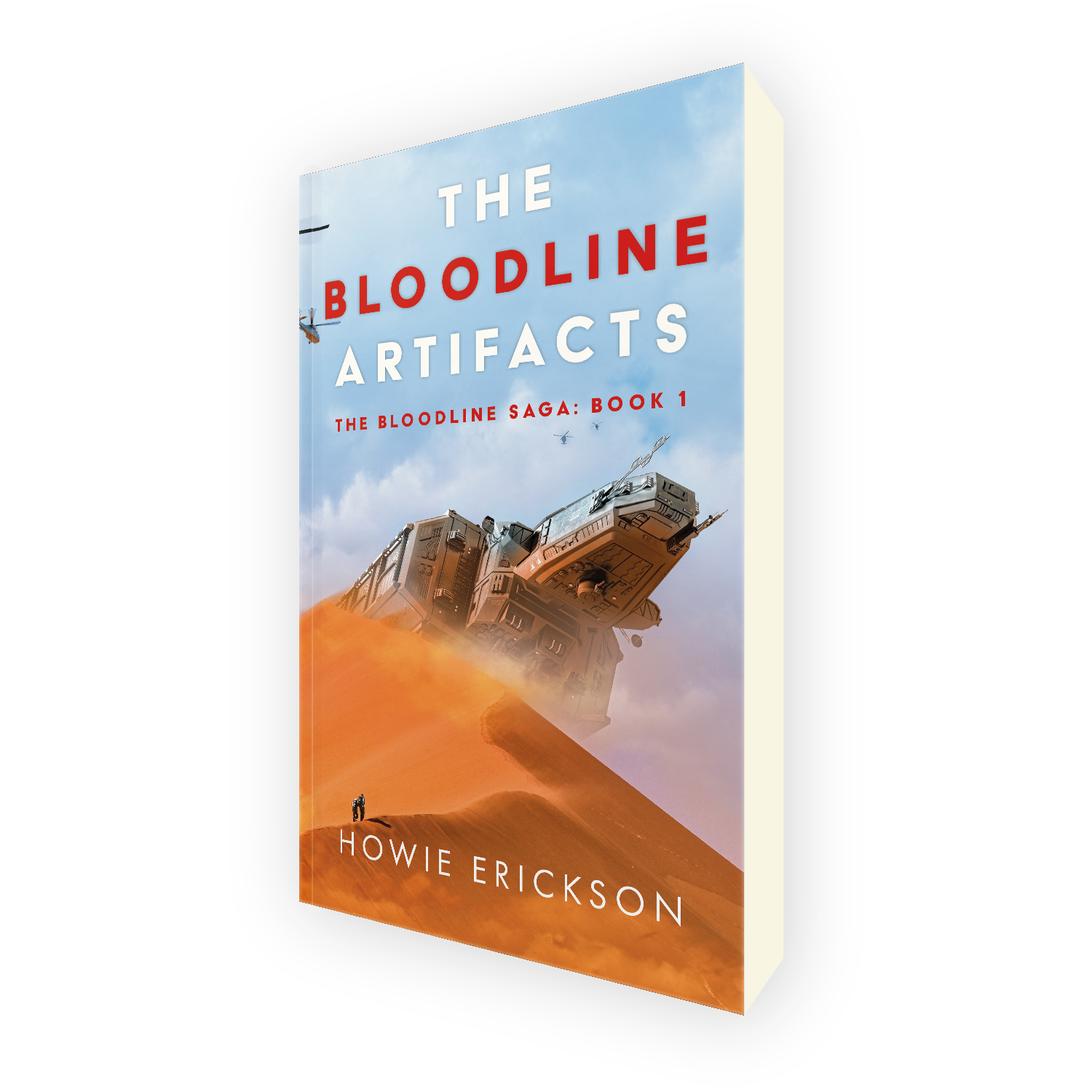 'The Bloodline Artifacts' is book one in a great dual-world scifi thriller series, by author Howie Erickson. The book cover was designed by Mark Thomas, of coverness.com. To find out more about my book design services, please visit www.coverness.com.