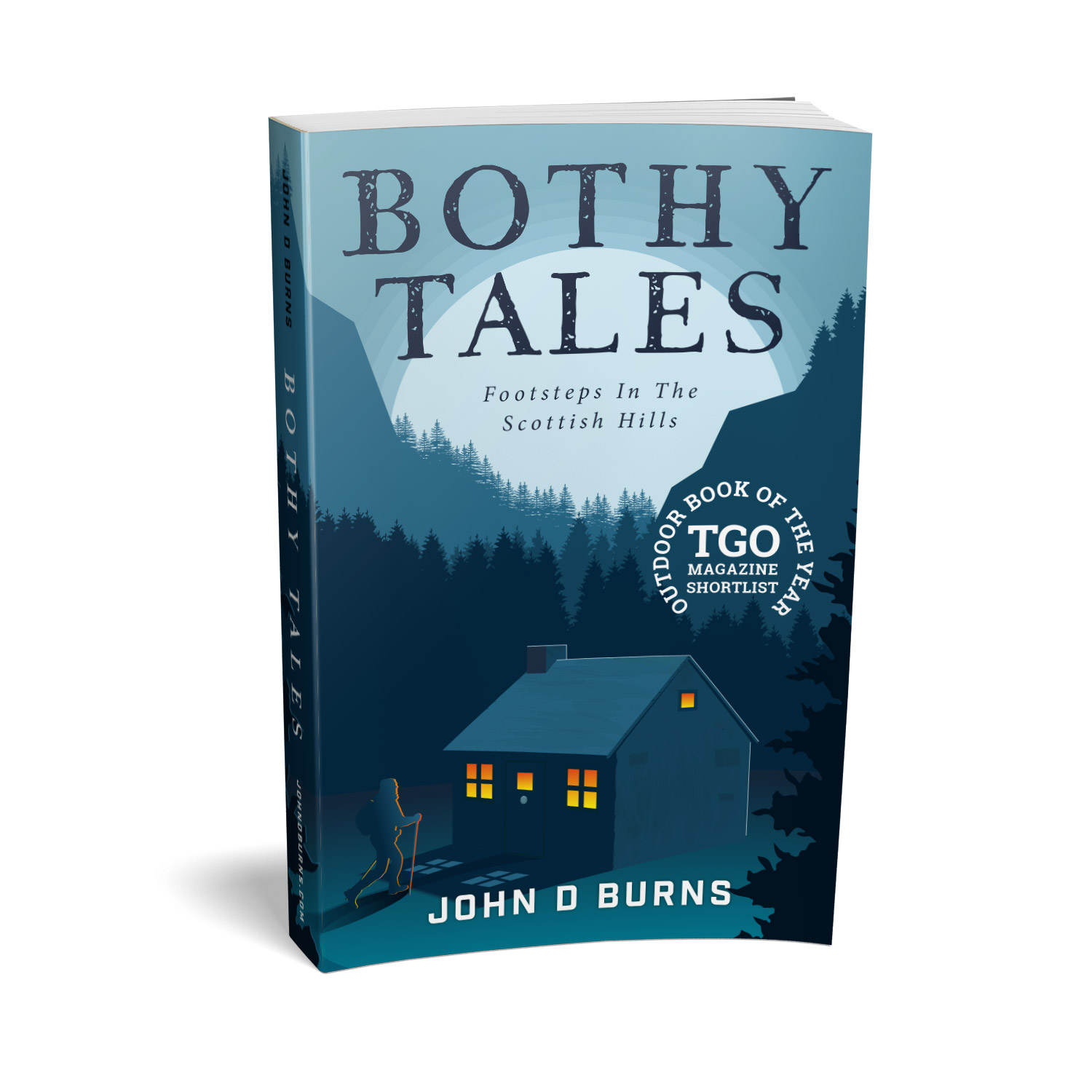 'Bothy Tales' is a bespoke cover design for a personal, retrospective hillwalking memoir. The book cover was designed by Mark Thomas, of coverness.com. To find out more about my book design services, please visit www.coverness.com.