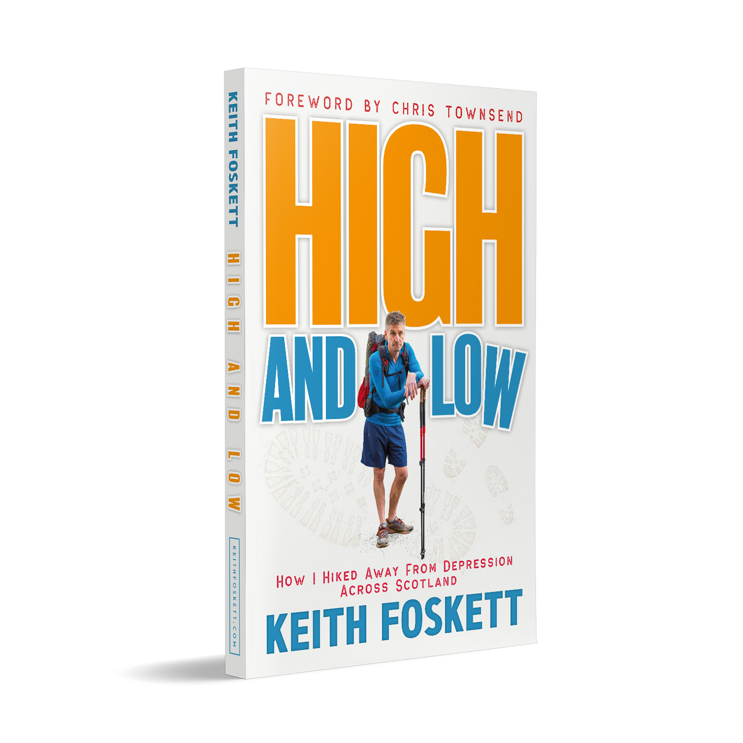 'High and Low' is a humorous and touching walking memoir, by Keith Foskett. The book cover was designed by Mark Thomas, of coverness.com. To find out more about my book design services, please visit www.coverness.com.