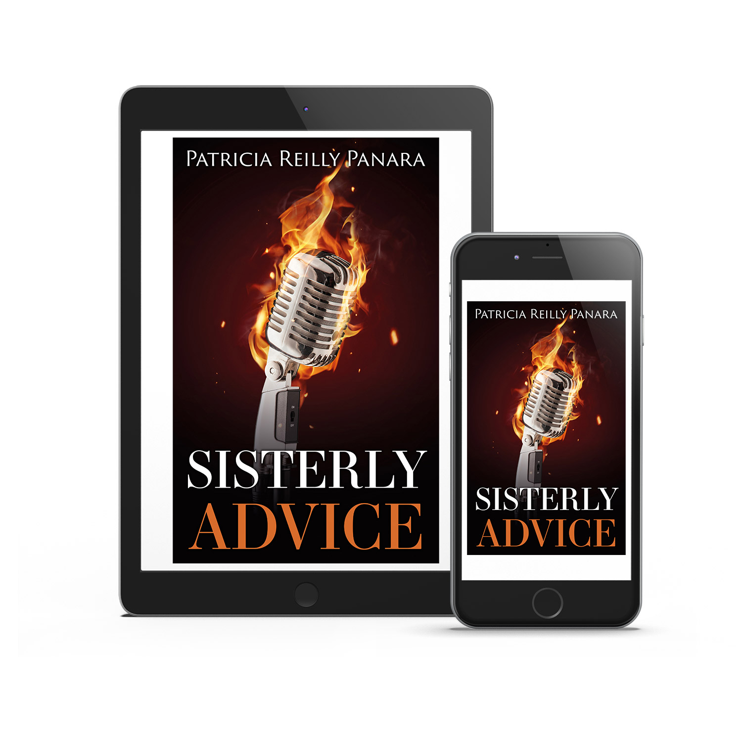 'Sisterly Advice' is the fictional, faith-based story of popular Nun DJ. The author is Patricia Reilly Panara. The book cover and interior were designed by Mark Thomas, of coverness.com. To find out more about my book design services, please visit www.coverness.com.