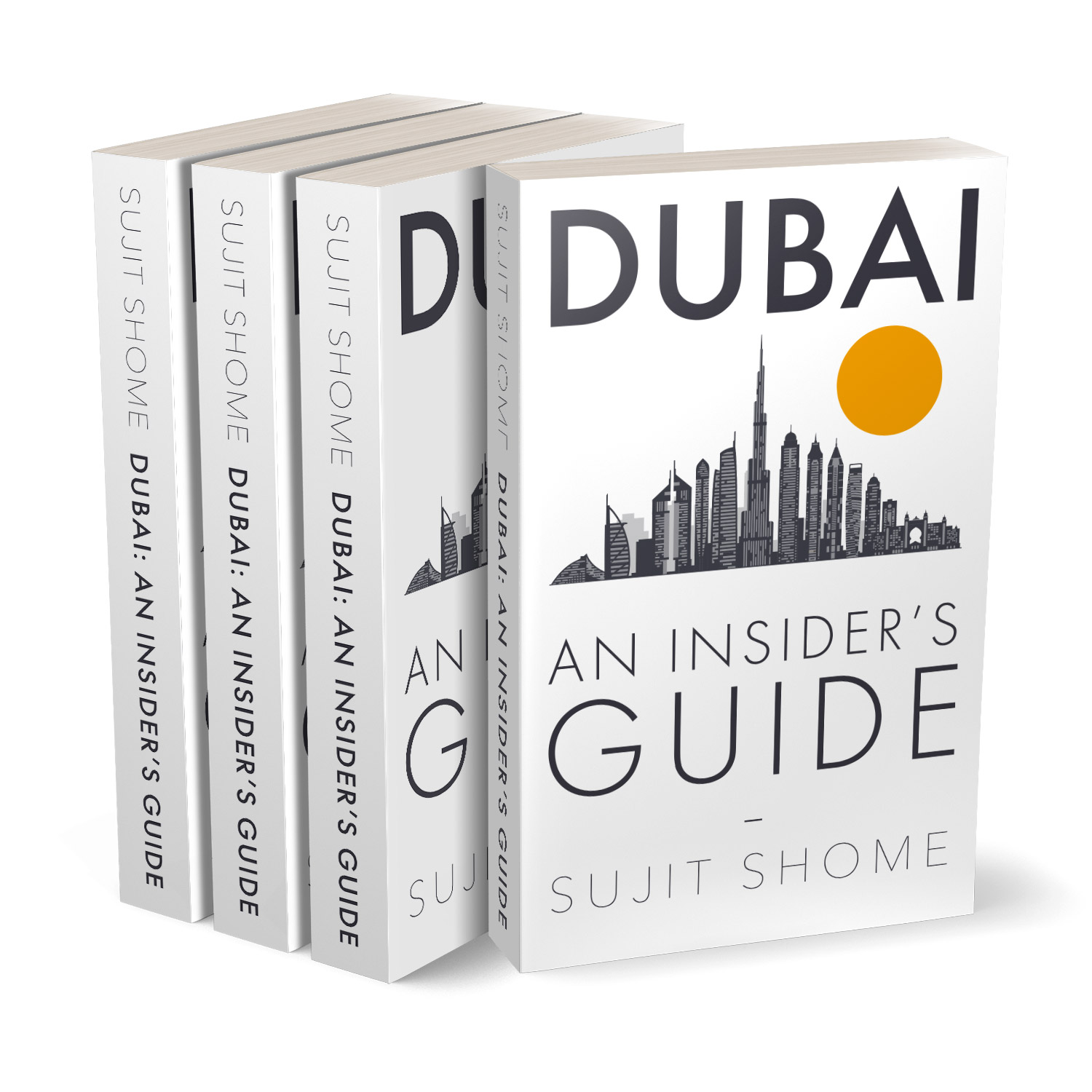 'Dubai: An Insider's Guide' is an informed review to one of the busiest cities in the Middle East. The author is Sujit Shome. The book cover and interior were designed by Mark Thomas, of coverness.com. To find out more about my book design services, please visit www.coverness.com.