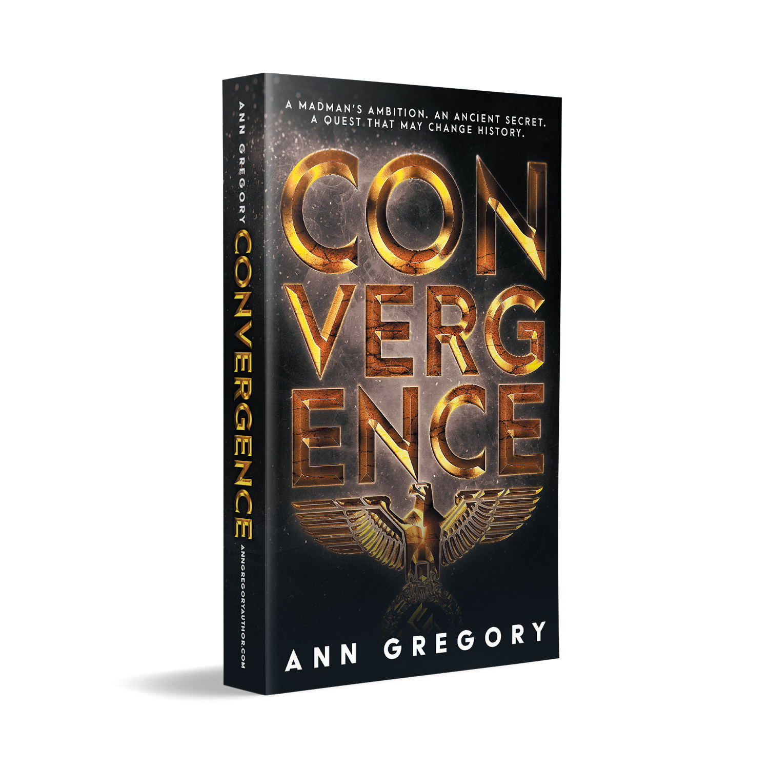 'Convergence' is a globe-trotting, pre-WWII conspiracy thriller. The author is Ann Gregory. The book cover design is by Mark Thomas. To learn more about what Mark could do for your book, please visit coverness.com.