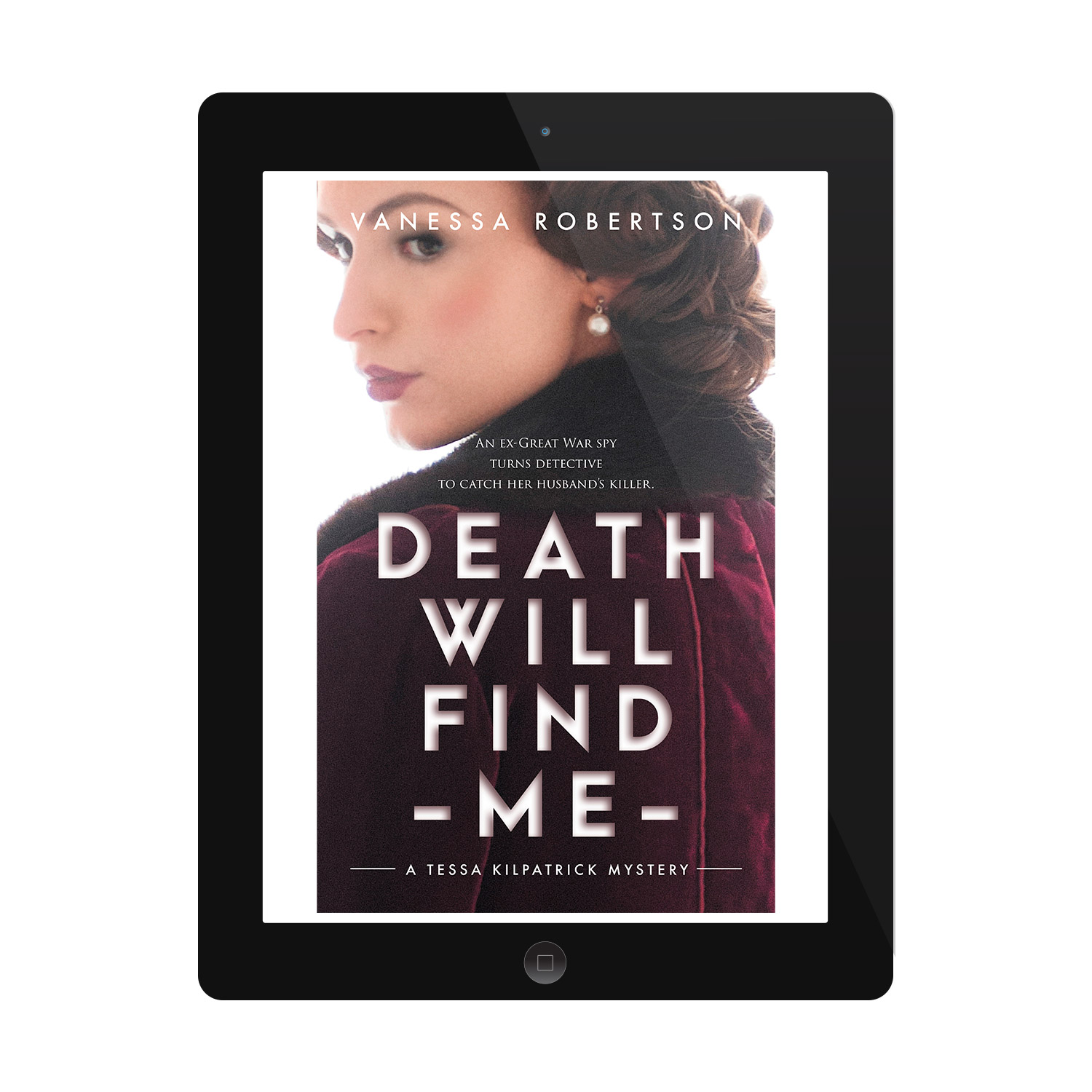 'Death Will Find Me' is a female-centric, between-the-wars mystery thriller. The author is Vanessa Robertson. The book cover design and interior formatting are by Mark Thomas. To learn more about what Mark could do for your book, please visit coverness.com.
