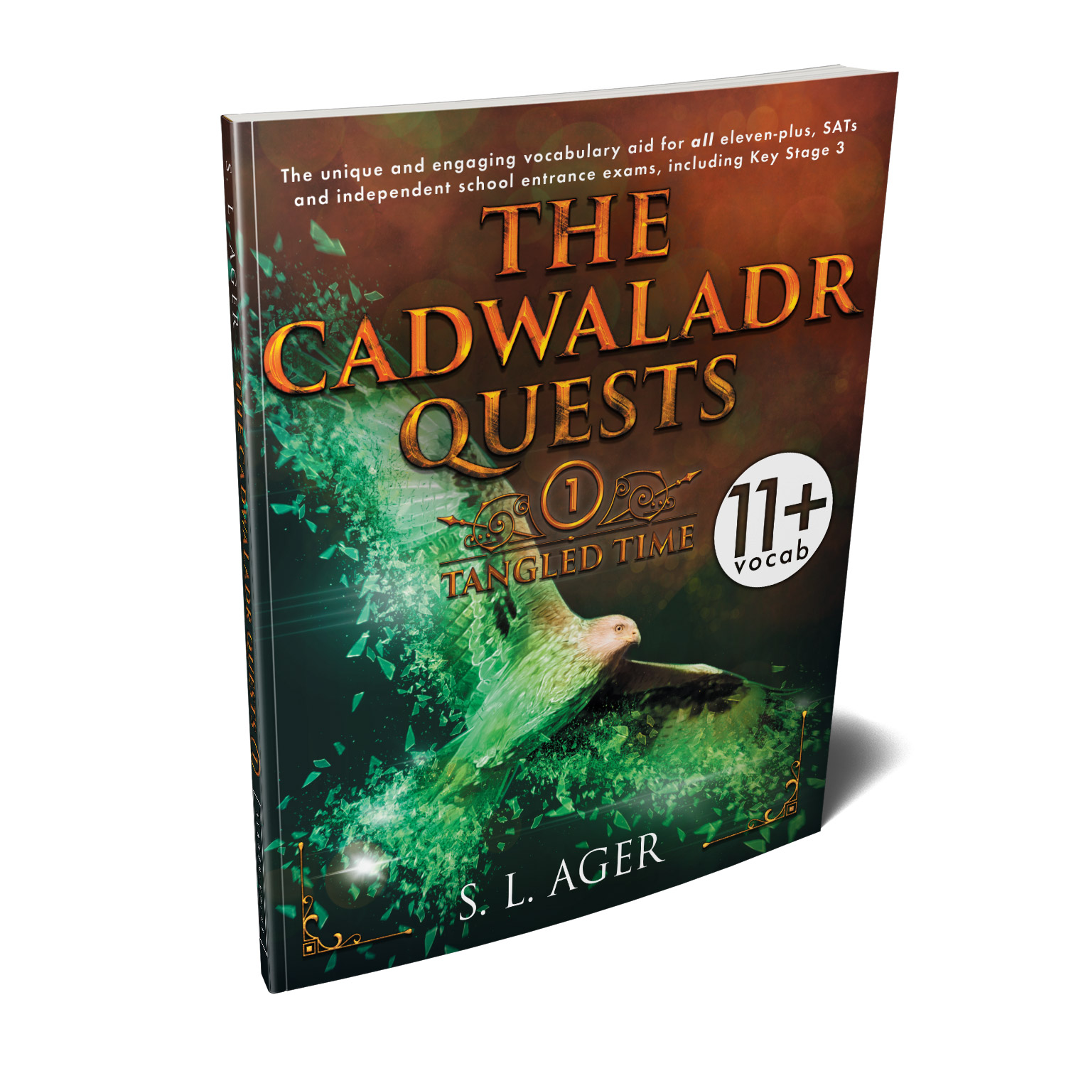 'The Cadwaladr Quests' is unique, story-based, educational tool that teaches young readers nearly 3000 exam-level English words. The author is S L Ager. The book cover and interior design are by Mark Thomas. To learn more about what Mark could do for your book, please visit coverness.com.