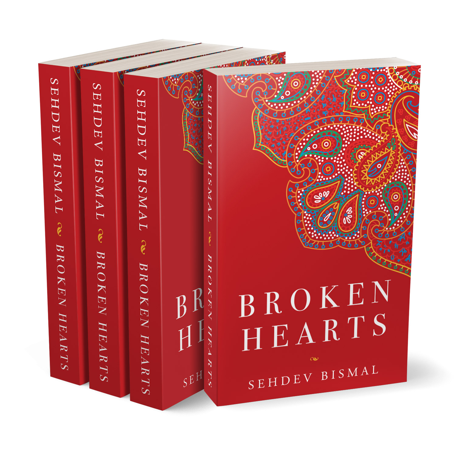'Broken Hearts' is a heartfelt romantic drama, of love and loss. The author is Sehdev Bismal. The book cover design and interior formatting are by Mark Thomas. To learn more about what Mark could do for your book, please visit coverness.com.