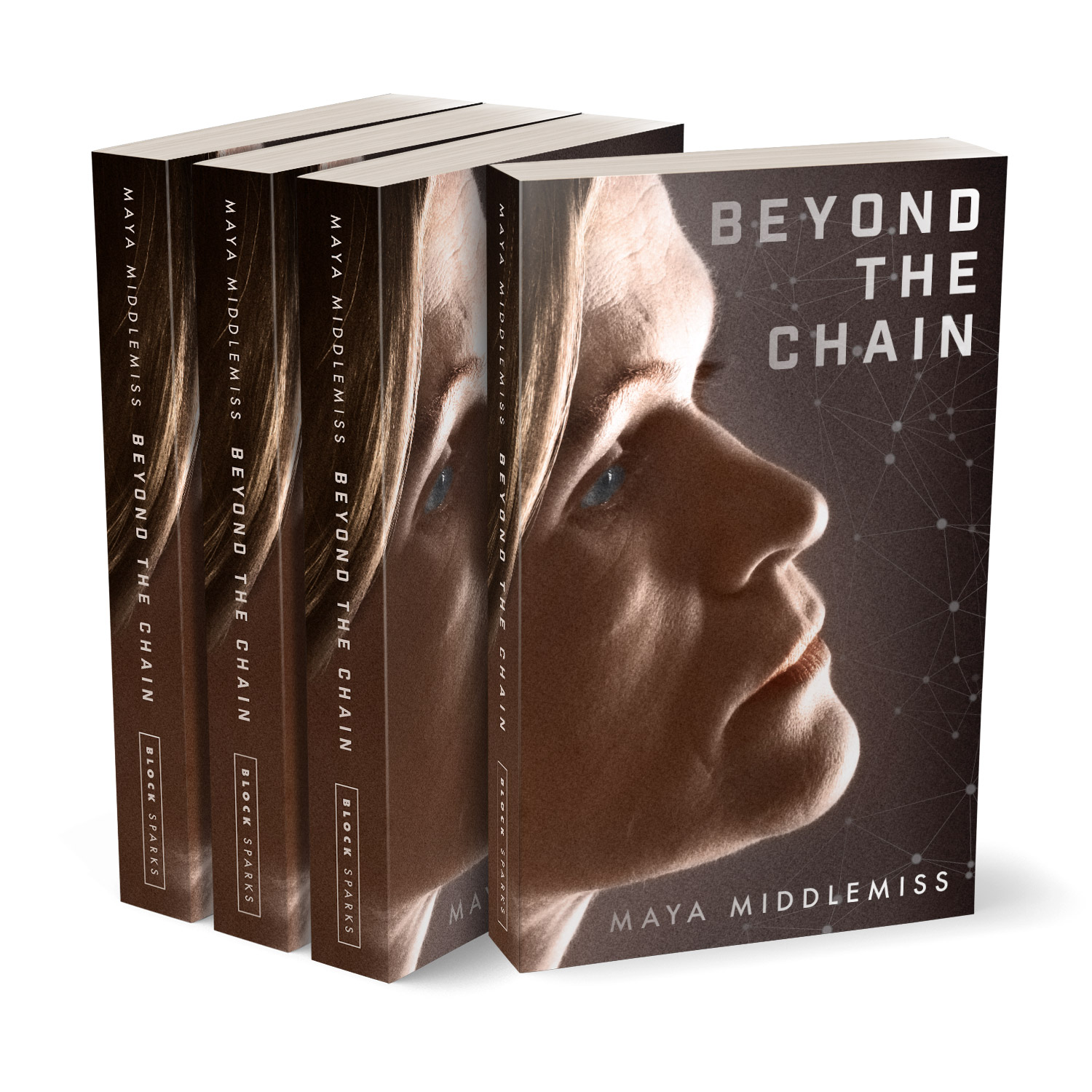 'Beyond The Chain' is a terrific female-led thriller. The author is Maya Middlemiss. The book cover design and interior formatting are by Mark Thomas. To learn more about what Mark could do for your book, please visit coverness.com.