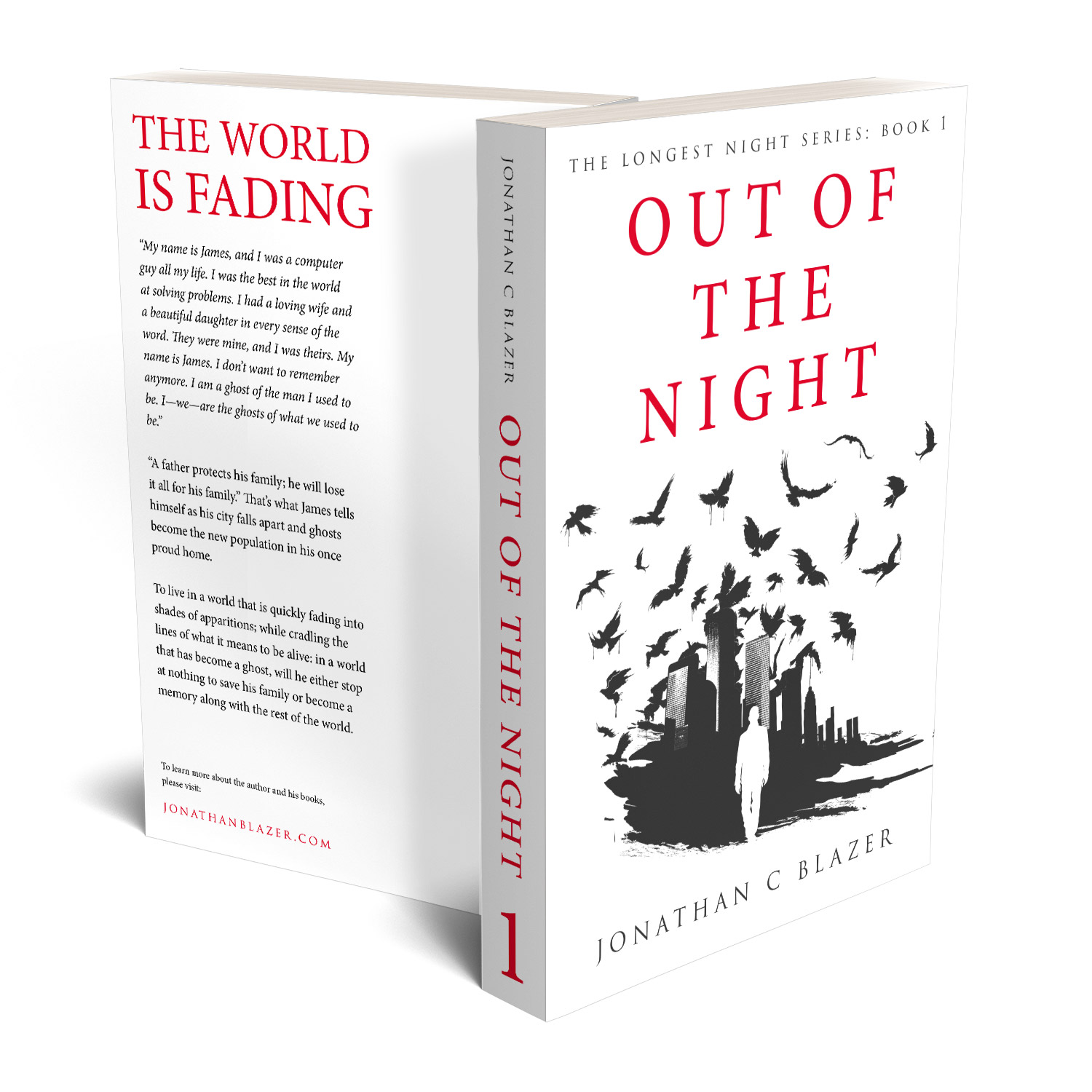 'Out Of The Night' is a highly evocative, wistful ghost story. The author is Jonathan C Blazer. The book cover was designed by Mark Thomas, of coverness.com. To find out more about my book design services, please visit www.coverness.com.