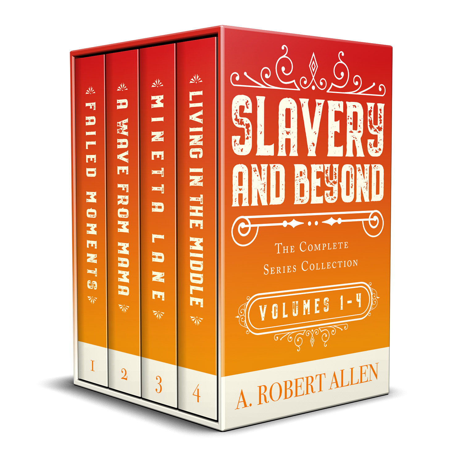 The 'Slavery and Beyond' book series charts the lives of multiple characters from the mid-19th to early 20th century America. The series author is A. Robert Allen. The book cover design is by Mark Thomas. To learn more about what Mark could do for your book, please visit coverness.com.
