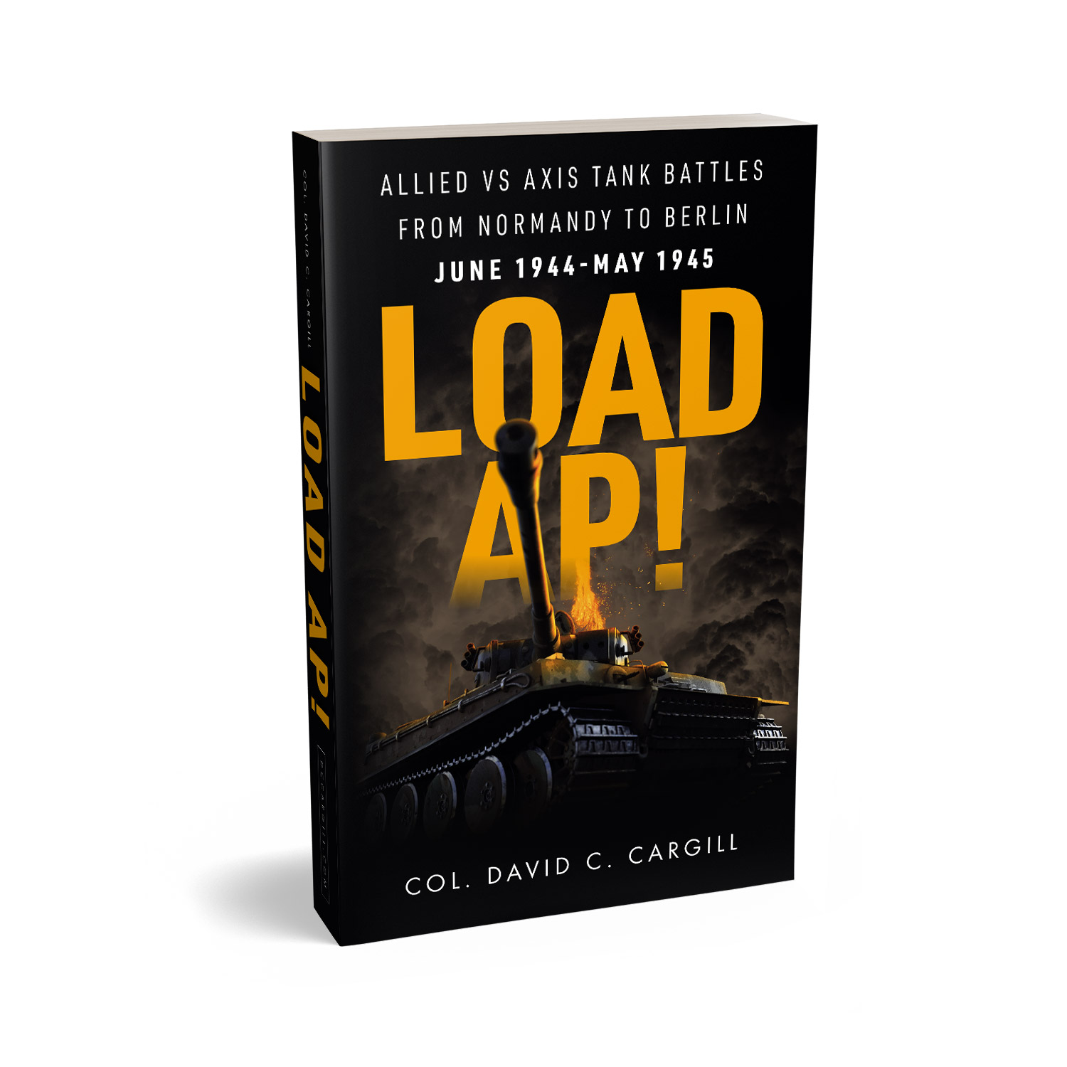 'Load AP!' is a portfolio demo cover by Mark Thomas. To learn more about what Mark could do for your book, please visit coverness.com.
