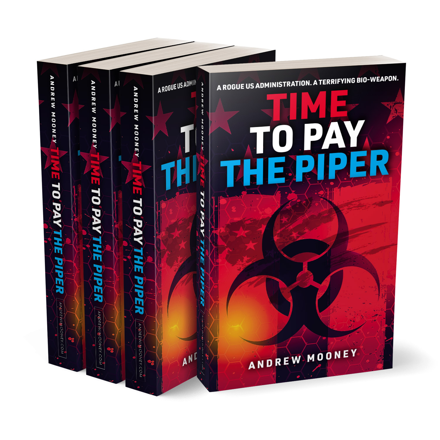'Time To Pay The Piper' is a great bio-conspiracy thriller. The author is Andrew Mooney. The book cover design and interior formatting are by Mark Thomas. To learn more about what Mark could do for your book, please visit coverness.com.