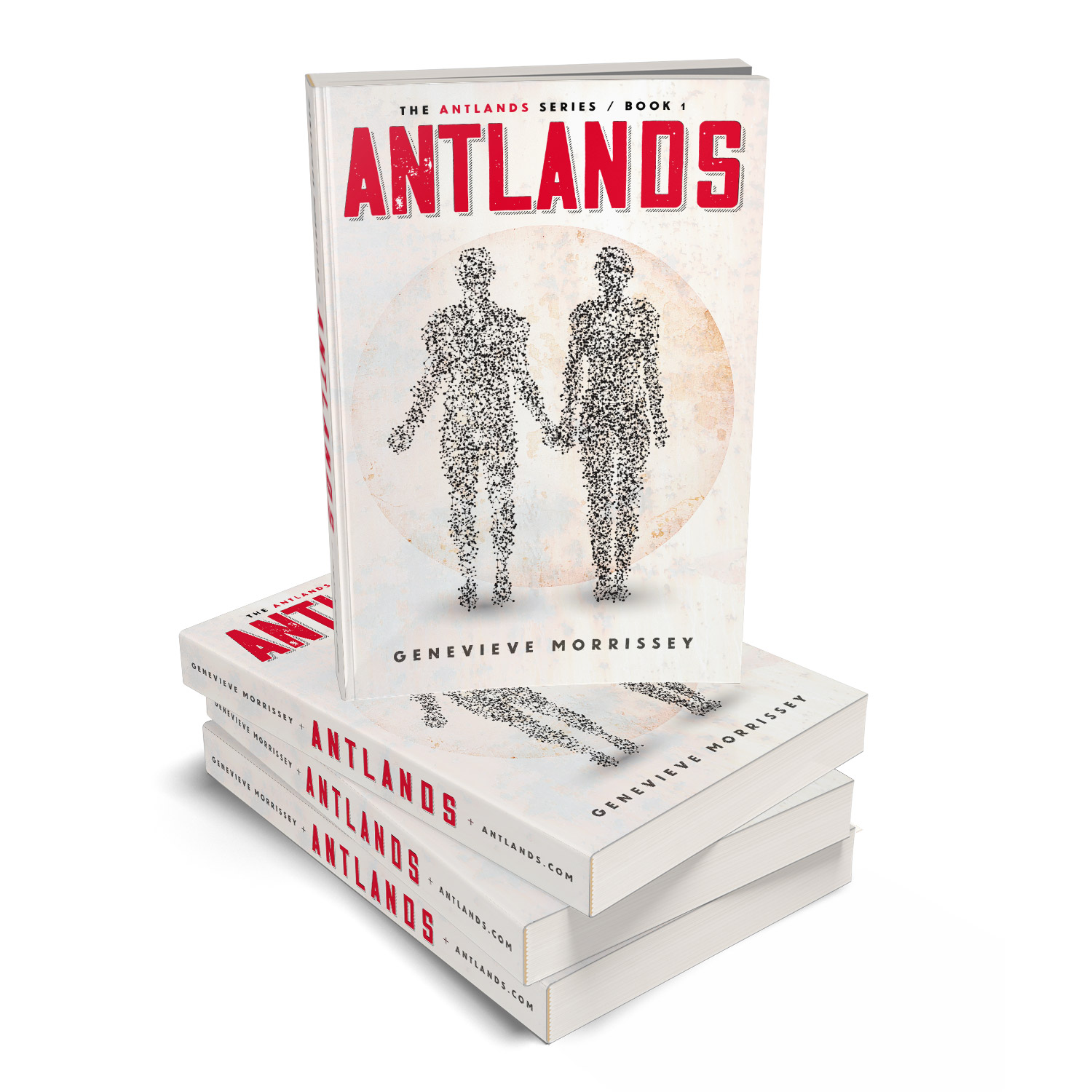 'Antlands' is an immersive, post-apocalyse scifi novel. The author is Genevieve Morrissey. The book cover design and interior formatting are by Mark Thomas. To learn more about what Mark could do for your book, please visit coverness.com.