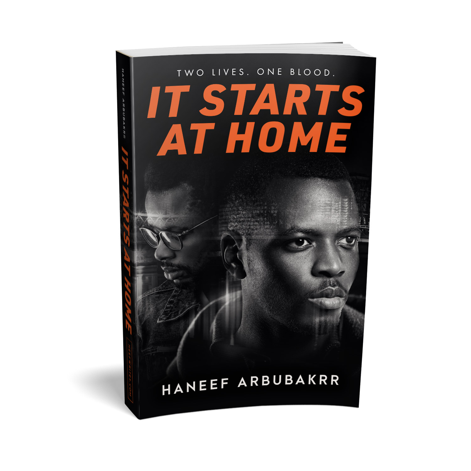 'It Starts At Home' is a gritty urban crime drama. The author is Haneef Arbubakrr. The book cover design and interior formatting are by Mark Thomas. To learn more about what Mark could do for your book, please visit coverness.com.