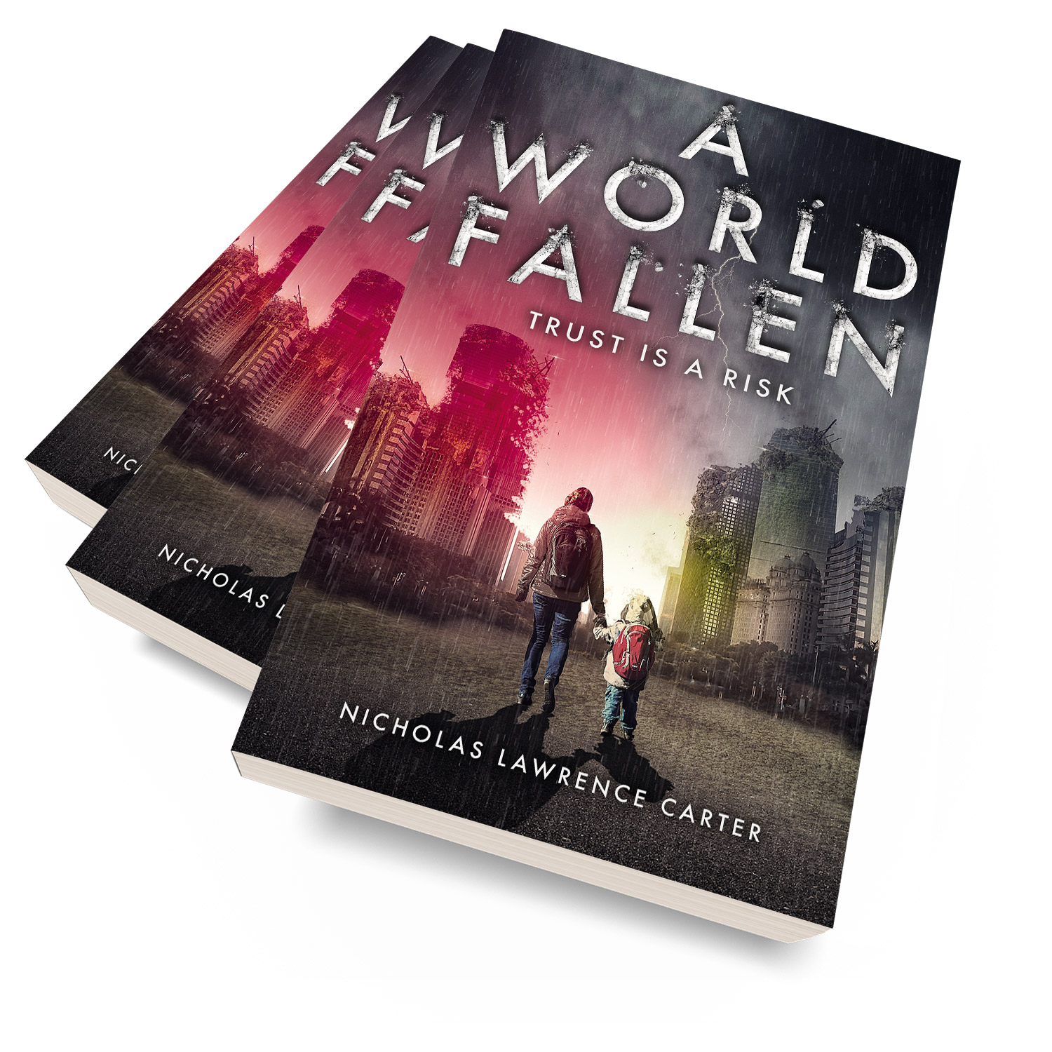 'A World Fallen' is an immersive, post-apocalyse scifi novel. The author is Nicholas Lawrence Carter. The book cover design is by Mark Thomas. To learn more about what Mark could do for your book, please visit coverness.com