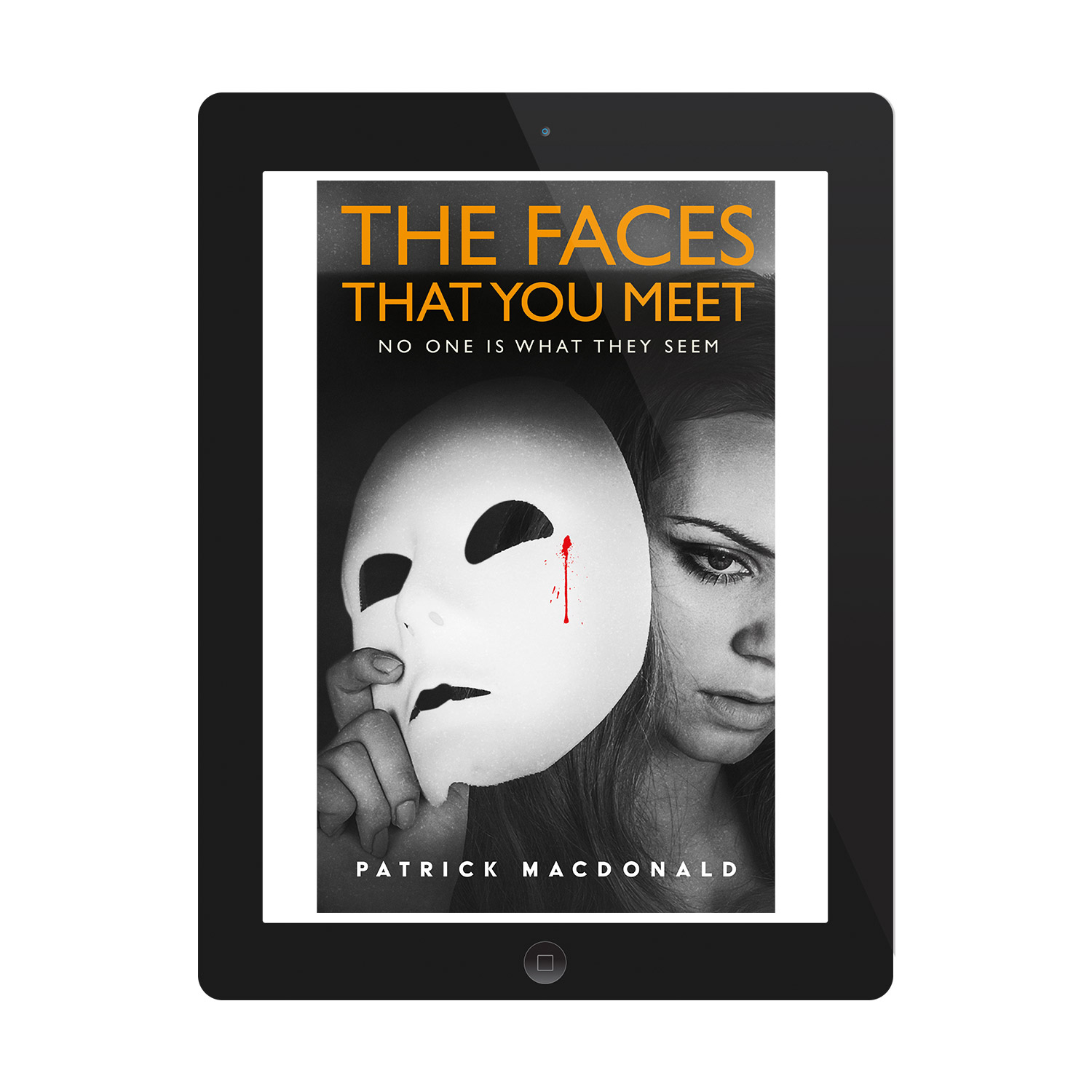 'The Faces That You Meet' is a dark, twisting thriller by Patrick Macdonald. The book cover design and interior formatting are by Mark Thomas. To learn more about what Mark could do for your book, please visit coverness.com.