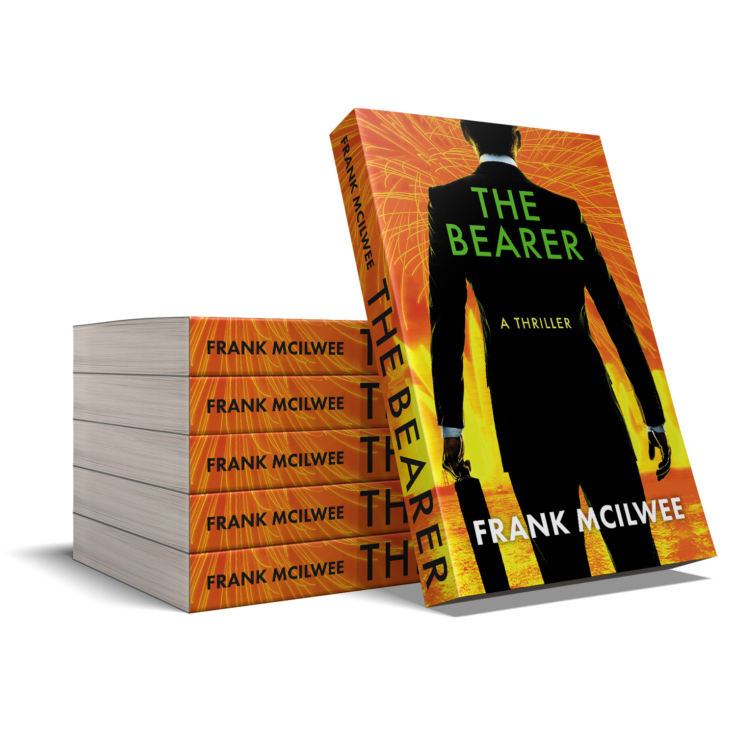 'The Bearer' is a globetrotting thriller by Frank McIlwee. The book cover design is by Mark Thomas. To learn more about what Mark could do for your book, please visit coverness.com.